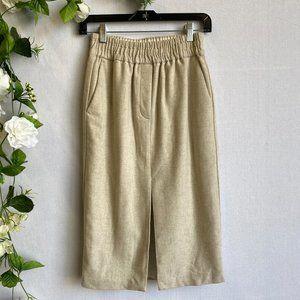 ARITZIA LE FOU WILFRED Oatmeal Skirt